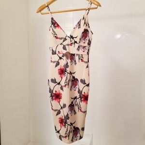 Fashion Nova Floral Midi Dress